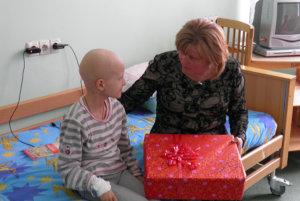 Utdelning av julklappar i Ukraina